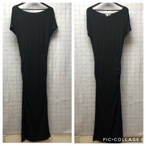 Boat neck slinky black Victoria's Secret Dress